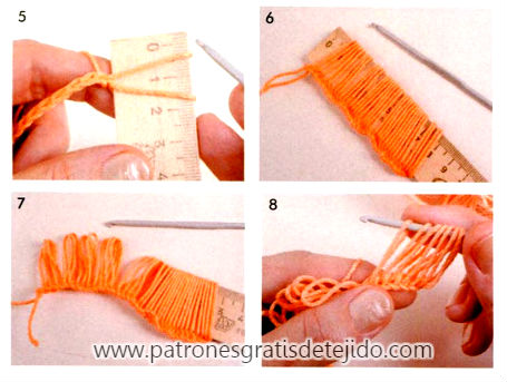 como se teje el punto peruano con ganchillo