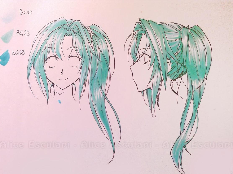 Copic Italia: Colorare capelli in stile manga - 2° parte
