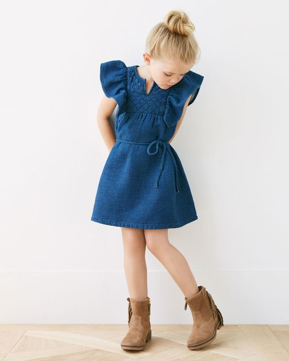 Denim Dress Image 10