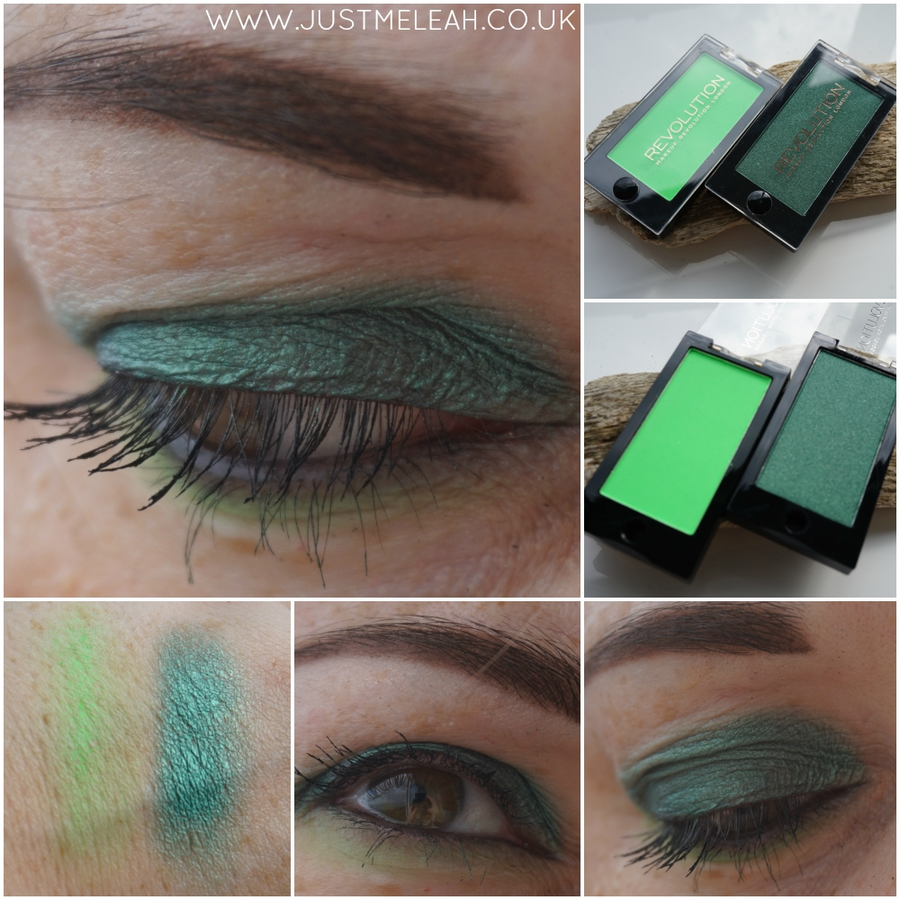 MAKEUP REVOLUTION EYESHADOW SWATCHES IN TEMPTRESS & GO!