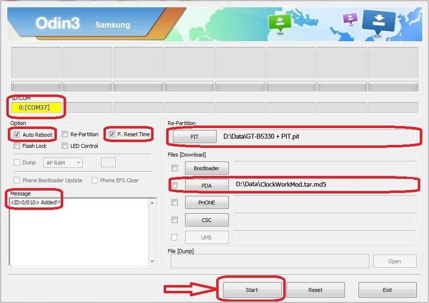 Cara Pasang CWM Pada Samsung Galaxy Chat GT-B5330