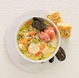 Seafood chowder Nova Scotia