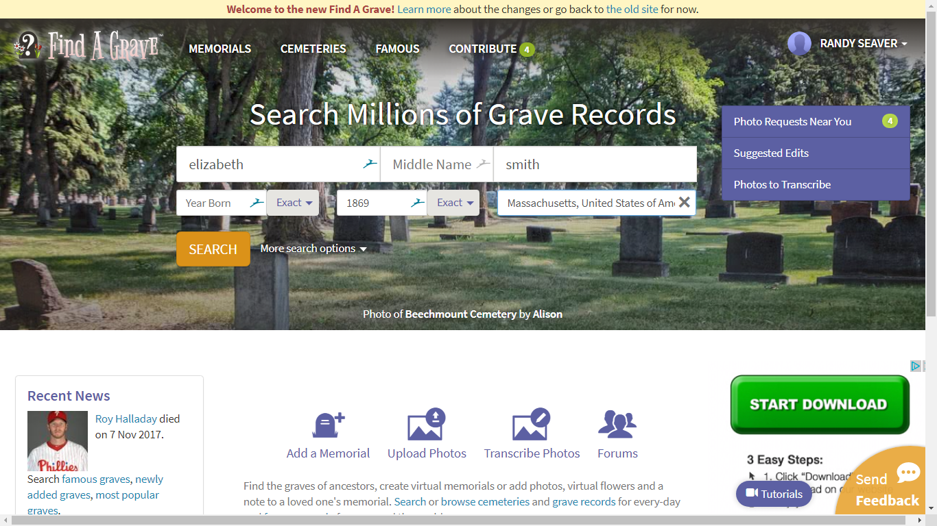 Genea-Musings: Updated Find A Grave Website Adds Decent Source Citations