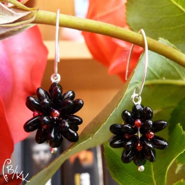 kolczyki beadingowe z rizo   rizo beaded earrings