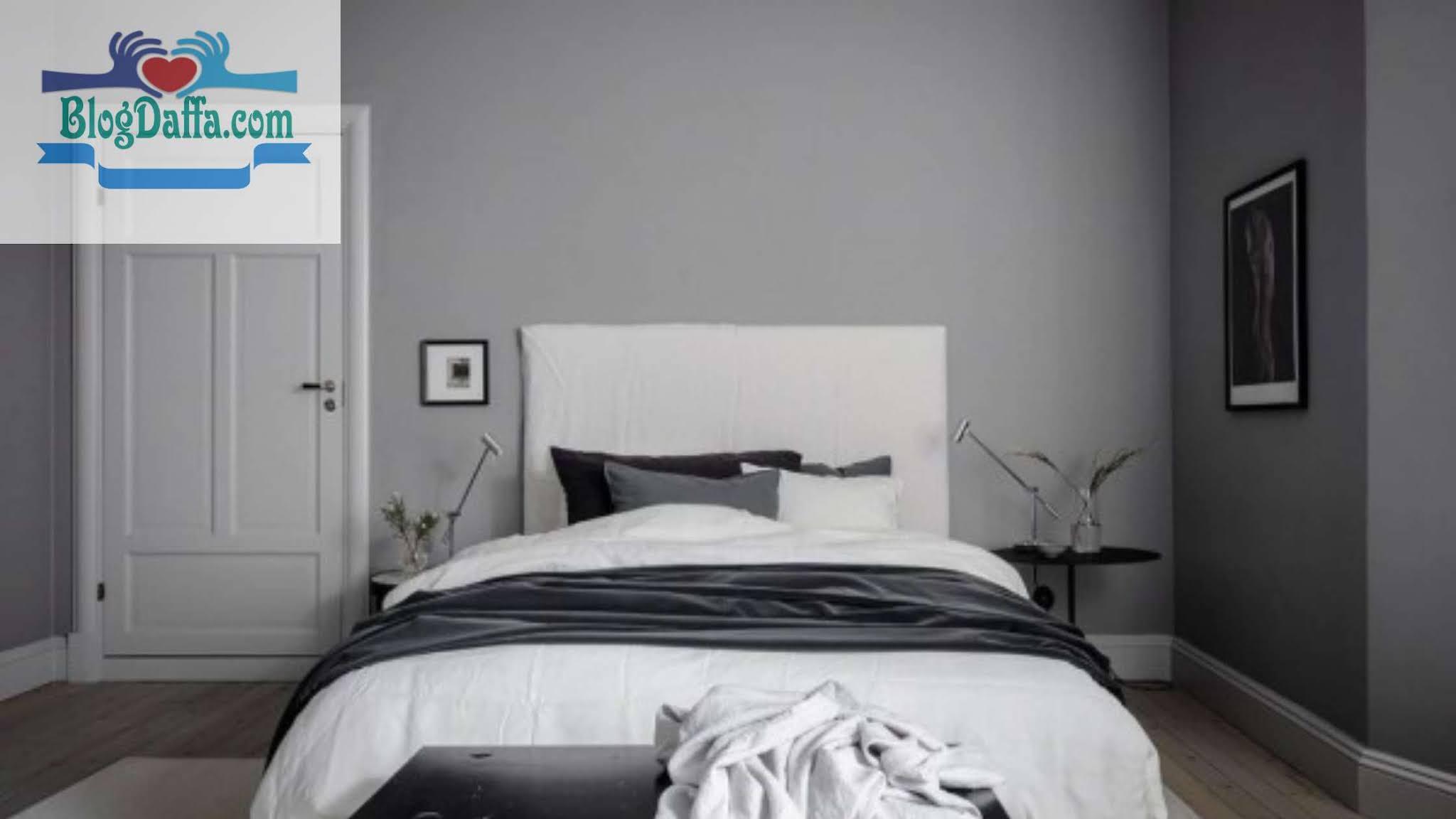 Warna cat kamar tidur abu-abu