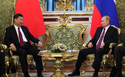 Vladimir Putin meeting with President of the People's Republic of China Xi Jinping.