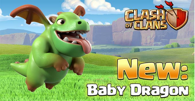 Baby Dragon trops terbaru clash of clans