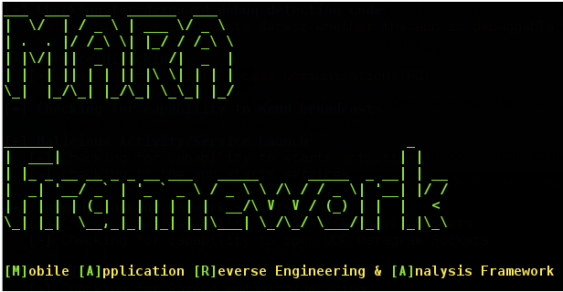 Mobile Application Reverse engineering and Analysis Framework Tool