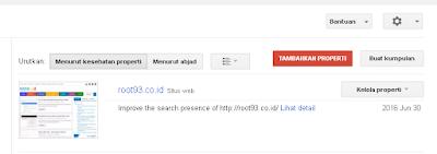 halaman berada google search console