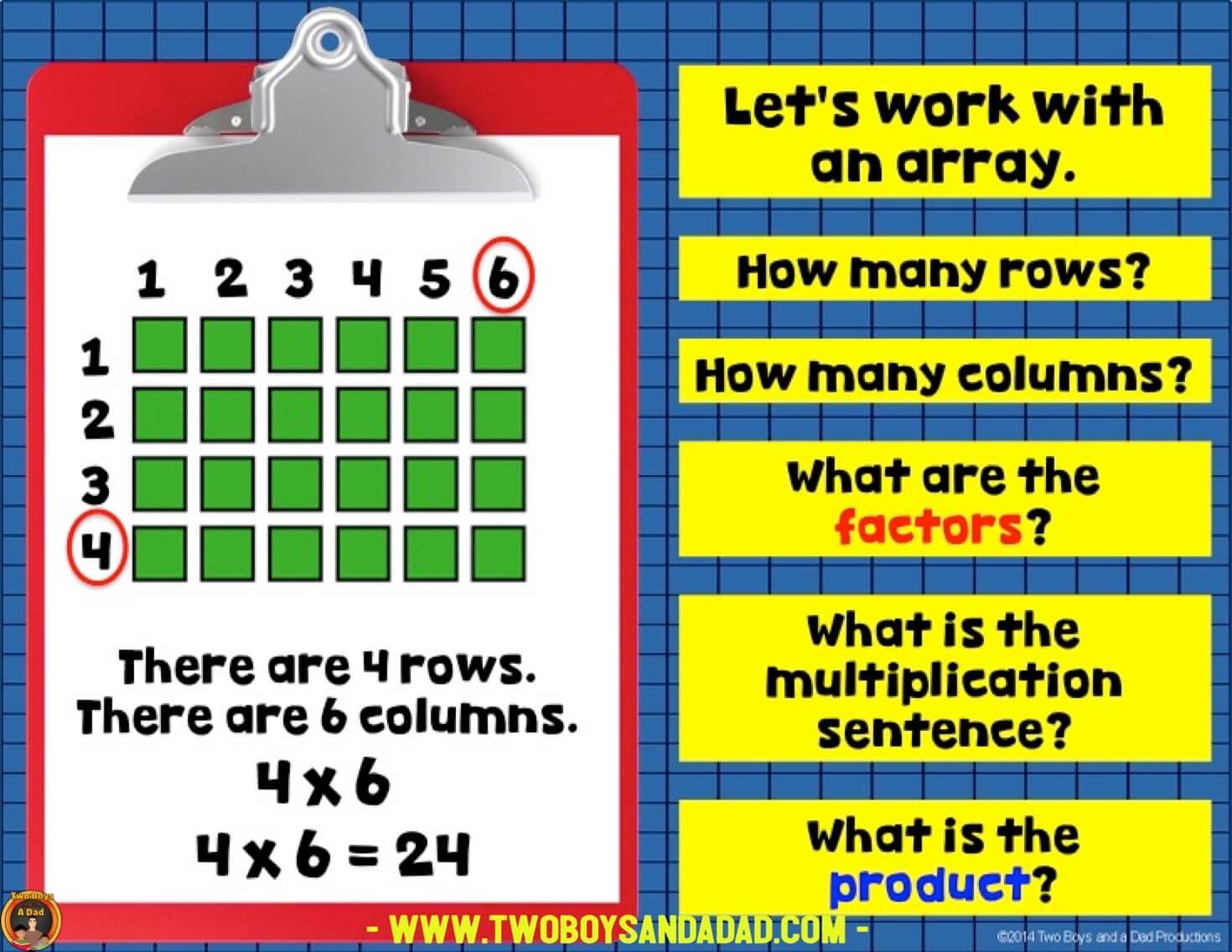 teach multiplication with arrays