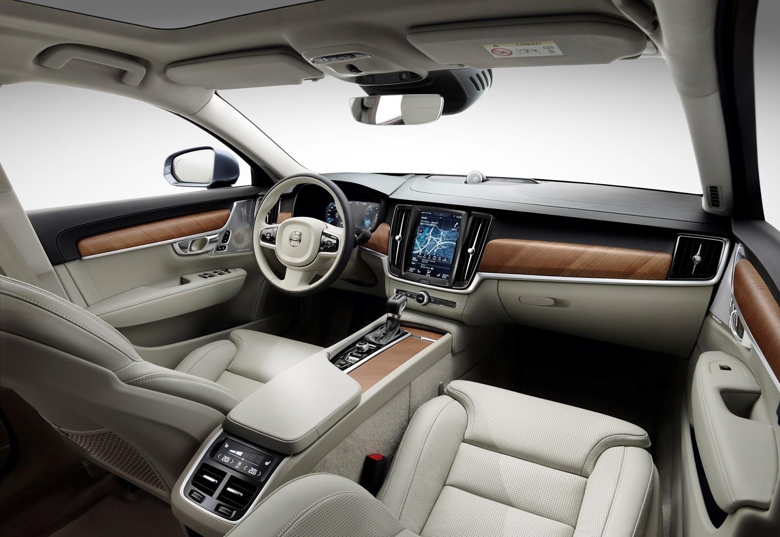 170161 Interior cockpit Volvo S90 V90 blond Το V90 είναι το πιο όμορφο, το πιο ασφαλές station wagon και το πιο... Volvo Station Wagon, Volvo, Volvo V90