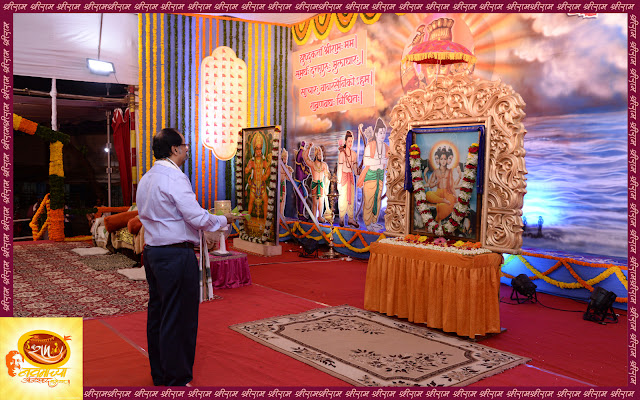 Ramnavami-utsav-Sameerdada-performing-dattaguru-Aarti