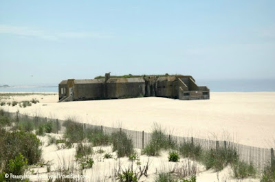 World War II Bunker on the Beach Cape May New Jersey