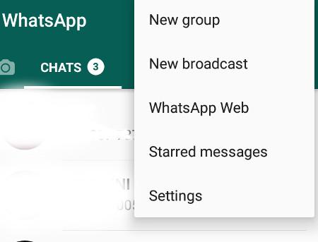 cara buka kontak whatsapp