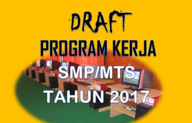 Draf Program Kerja Sarana Prasarana SMP/ MTs 2017/ 2018