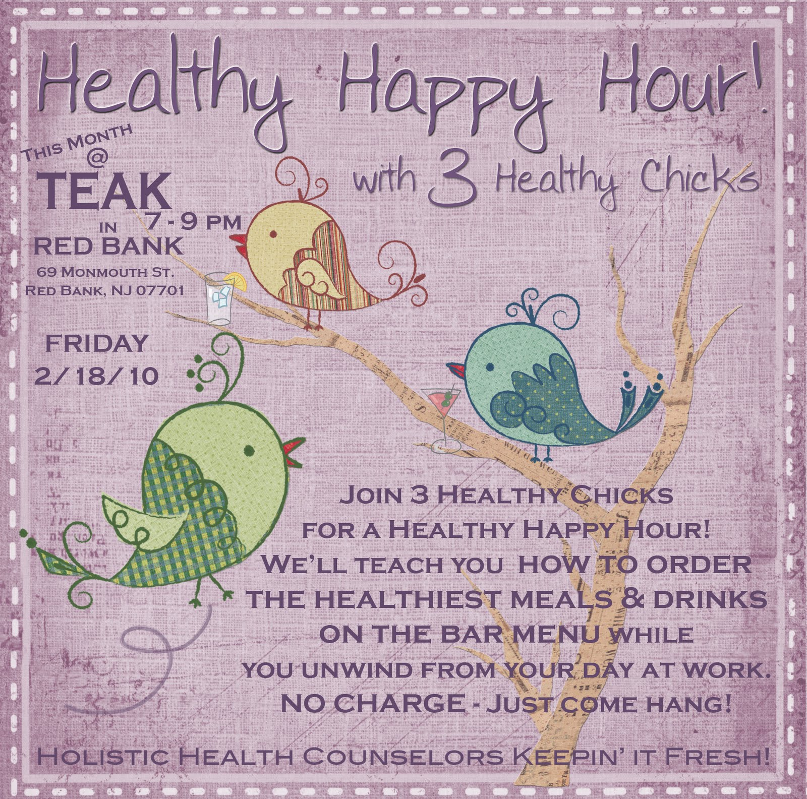 HEALTHY HAPPY HOUR / HIGH VIBE : MEMBER SUPPORT PORTAL  Healthy Happy Hour
