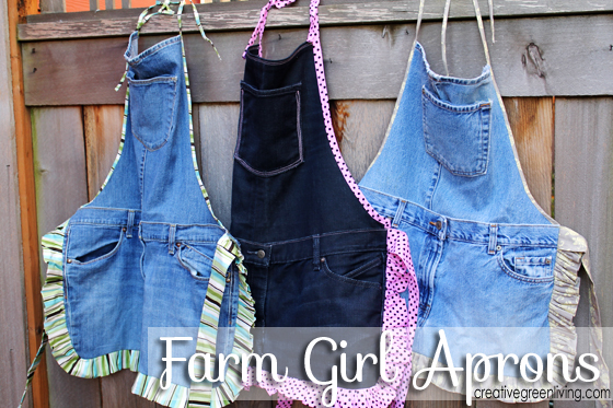 Farm Kid Aprons From Recycled Jeans Creative Green Living