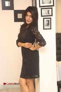 Actress Kimaya Phtoos in Black Short Dress at Kotha Kothaga Unnadi Press Meet 0010