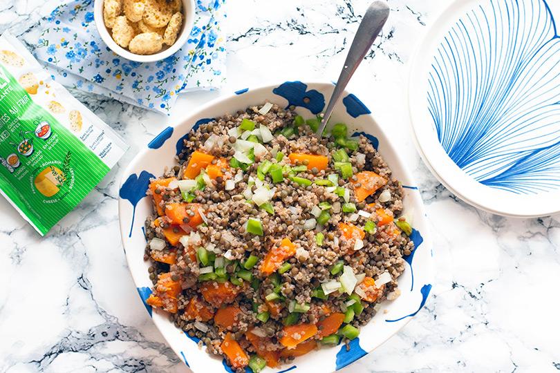 recette Salade lentilles et courge