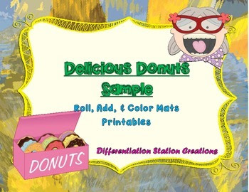 https://www.teacherspayteachers.com/Product/Free-Sample-Delicious-Donuts-Roll-Add-Color-1179538