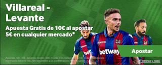 betway promocion Villarreal vs Levante 4 noviembre