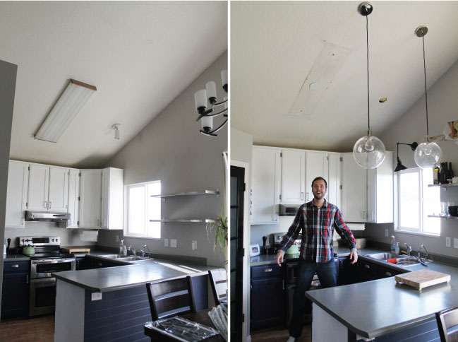 The New Kitchen Lighting Or Fluorescent Be Gone Chris