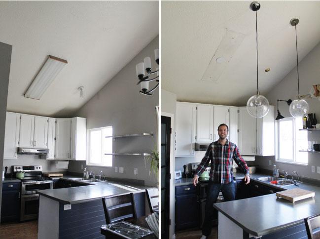 The New Kitchen Lighting Or Fluorescent Be Gone! Chris Loves Julia