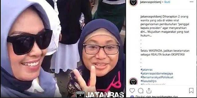 Emak-Emak Penyebar Video Pengancam Jokowi Ditetapkan Tersangka