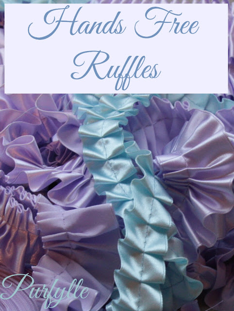 Hands free ruffles using your ruffler foot