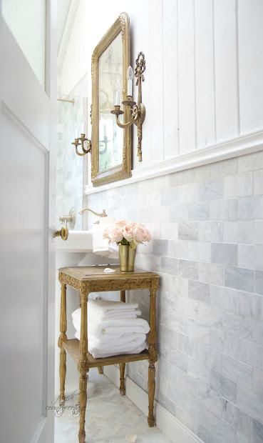 French Cottage Bathroom Renovation- Reveal - Country