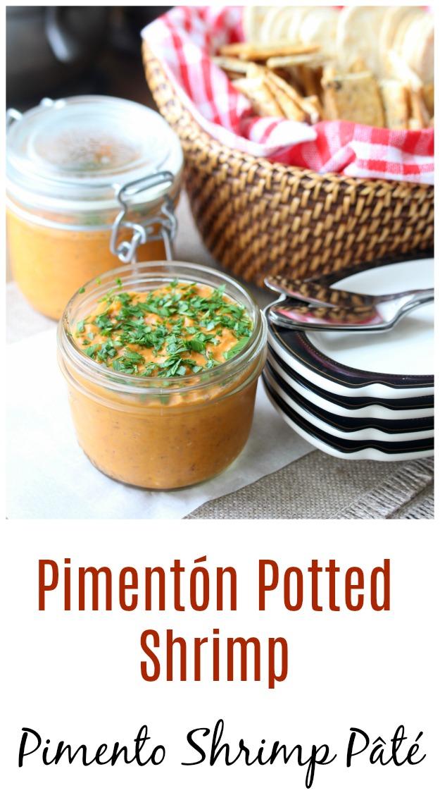 Pimentón Potted Shrimp #shrimp #pate #rillettes #pimenton  #paprika