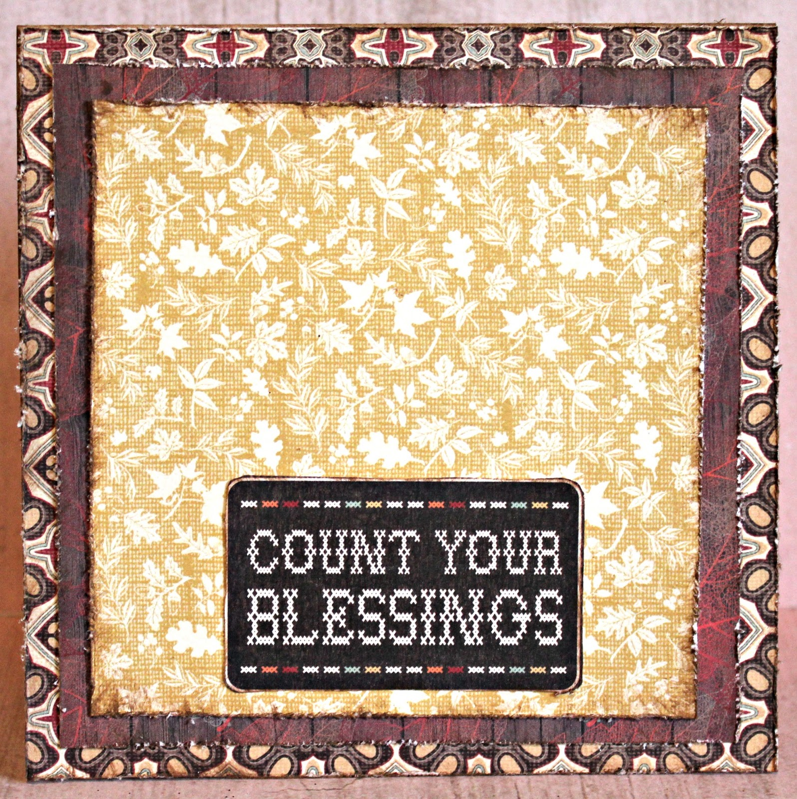 Scrapbook Flair: Pam Bray Designs: Count Your Blessings Card and ...
