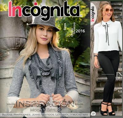 catalogo de ropa para mujer incognita oi 2016