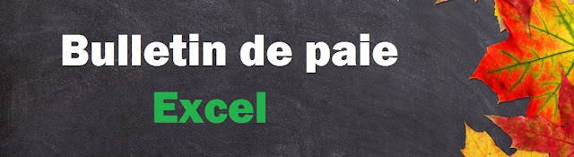 Bulletin de paie excel maroc