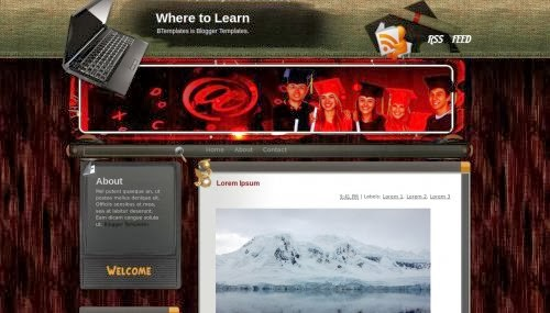 where to learn blogger template 2014,blogger templates,free template download,education template,blogger template 2014