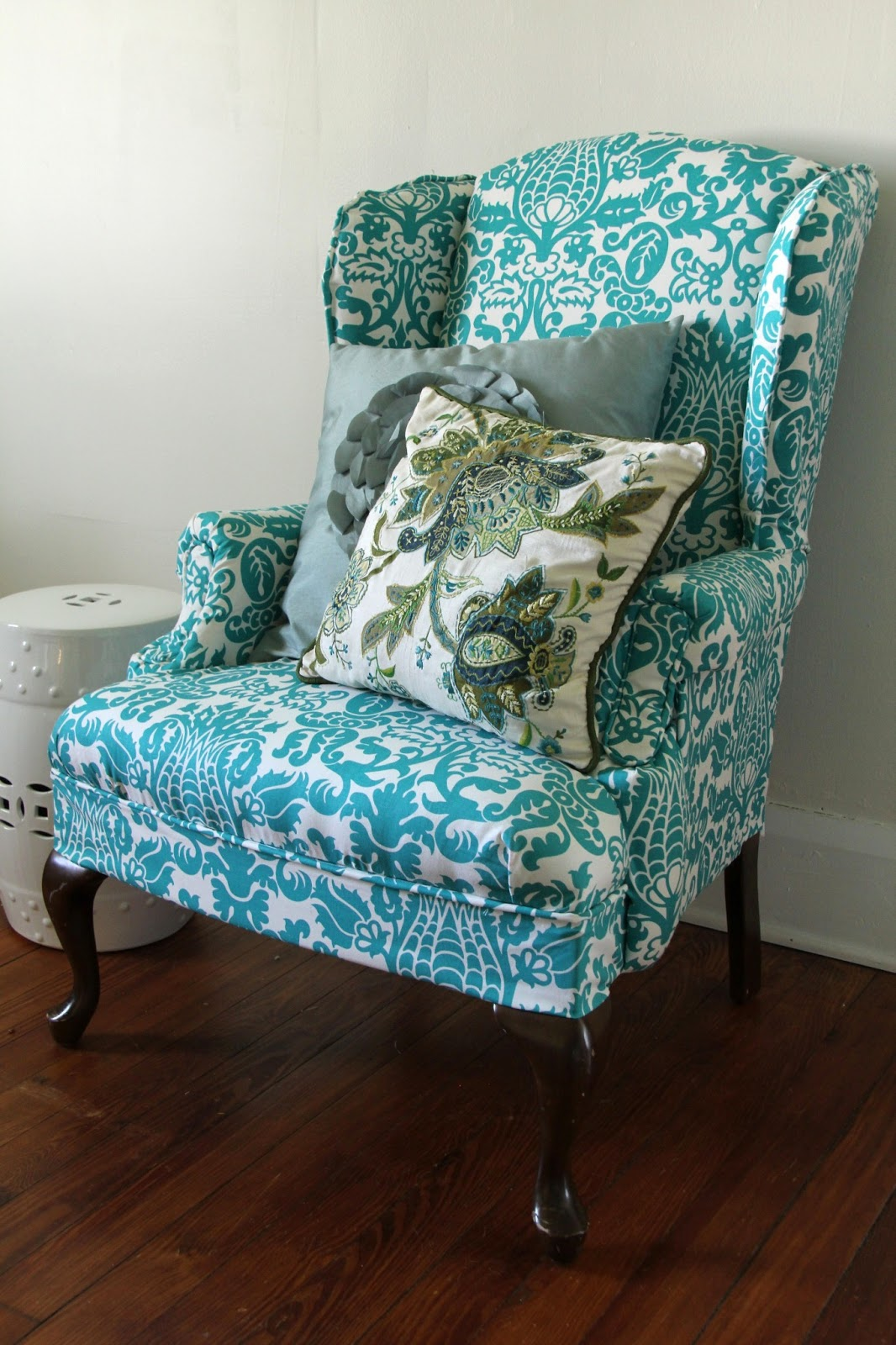 upholstered wingback chair in steel reinforcement lovely little life diy