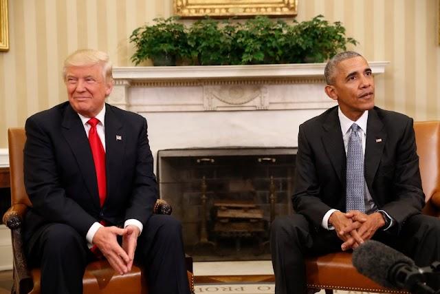Trump and Obama at the Barbershop
