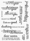 Clearly Besotted SAY IT'S CHRISTMAS clear stamps