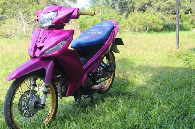 Modifikasi Vega RR Ungu Modif Simple