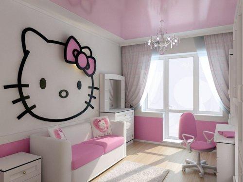 Simple Cute Hello Kitty Bedroom Headboard Room Decor Pinterest