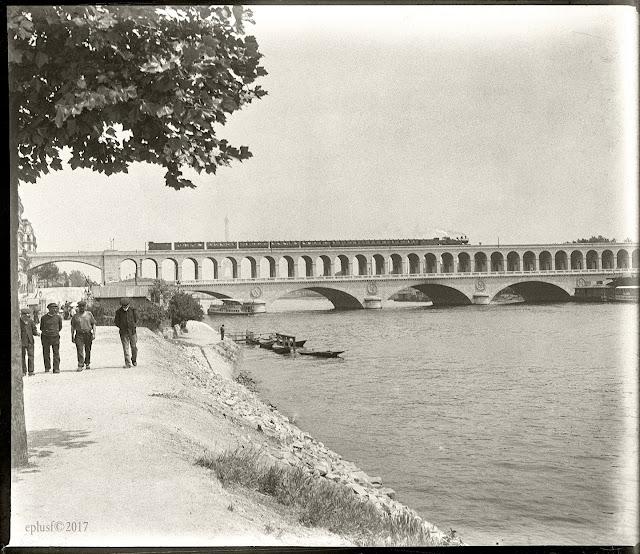 Le viaduc d'Auteuil 1905 Paris