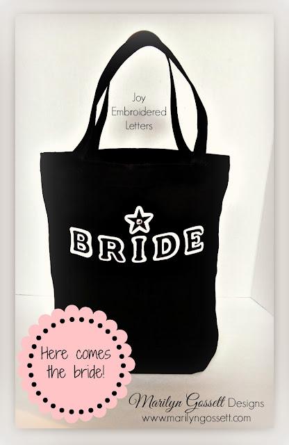 bridal tote bag joy iron on letters