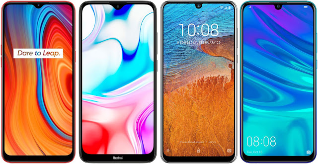 Realme C3 vs Xiaomi Redmi 8 64 GB vs ZTE Blade V10 vs Huawei P Smart 2019