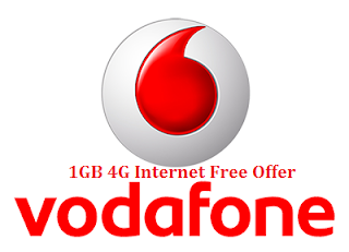 Vodafone 1GB 4G Internet Free Offer