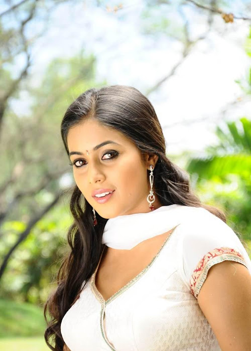 poorna in white dress