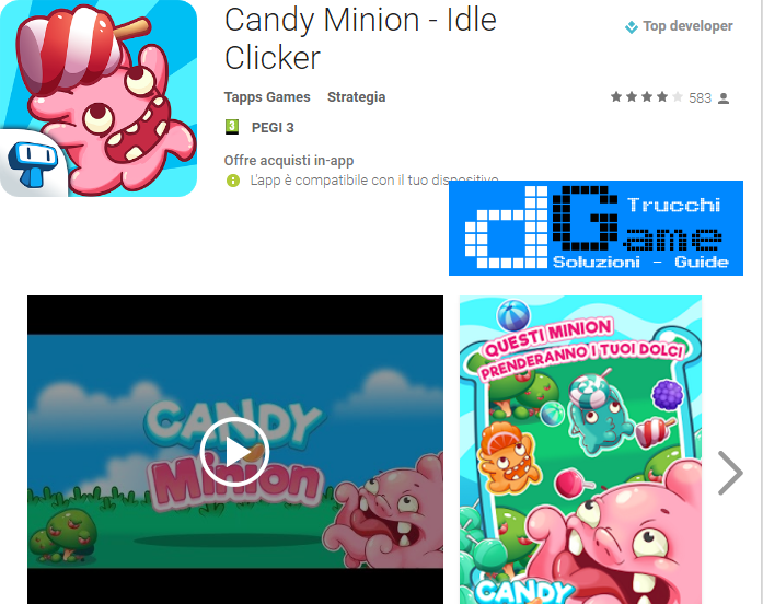 Trucchi Candy Minion - Idle Clicker Mod Apk Android v1.0.3