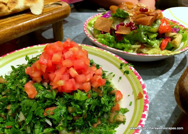 Zaroob's tabbouleh and fattoush
