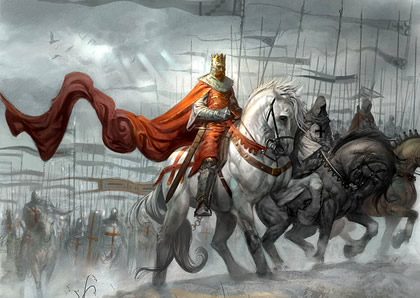Richard I leading forces on the Third Crusade