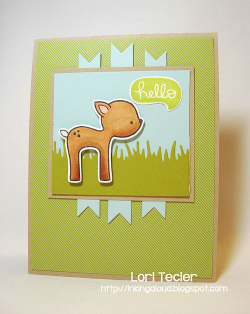 Hello Deer-designed by Lori Tecler-Inking Aloud-stamps and dies from Lawn Fawn