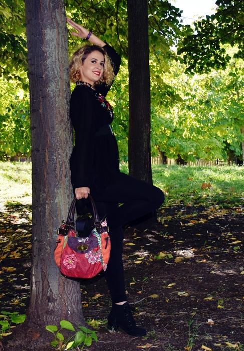Outfit-bluson-negro-flores-2